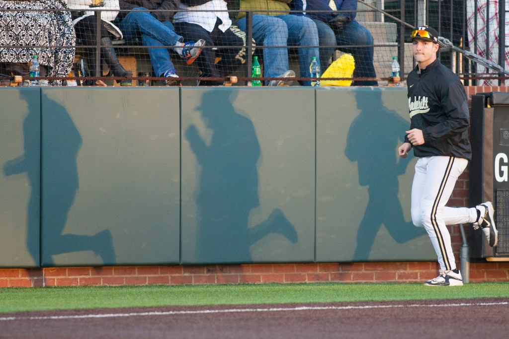 during Vanderbilt Baseball's 9-5 loss against Tennessee March 21, 2015.