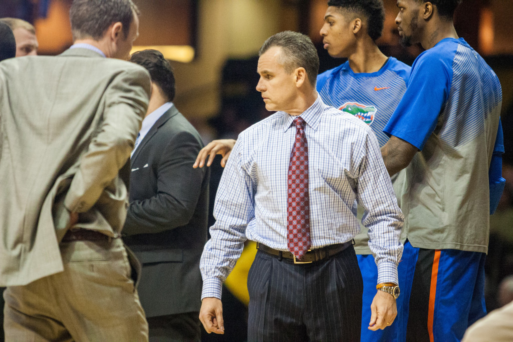 Billy Donovan during the first half of Vanderbilt's matchup against the Florida Gators at Memorial Gym February 3, 2015.